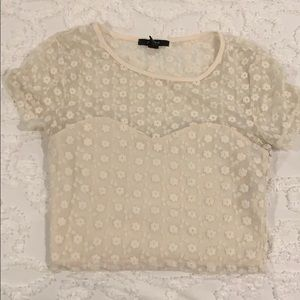 Forever 21 ivory crop top